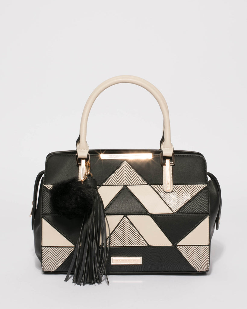 Monochrome Lily Limited Edition Panel Tote Bag
