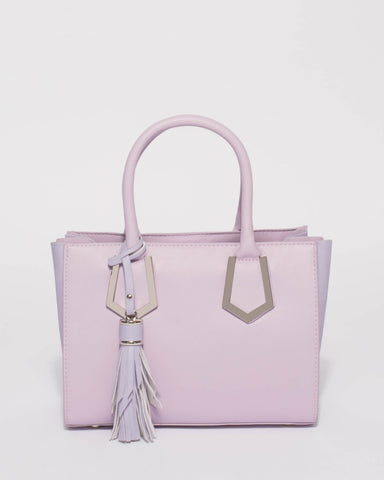 Purple Mila Small Multi Tote Bag