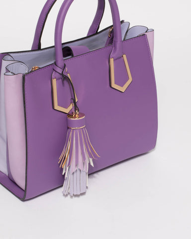 Purple Mila Large Multi Tote Bag