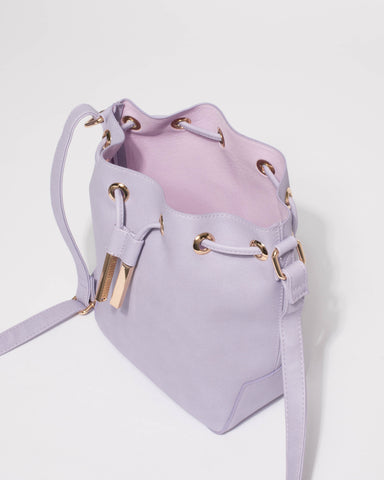 Purple Casey Mini Bucket Bag