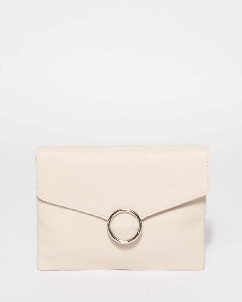 6df3ab061e7 Ivory Ellisa Clutch Bag With Silver Hardware – Colette by Colette ...