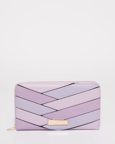 Purple Sandy Panel Wallet
