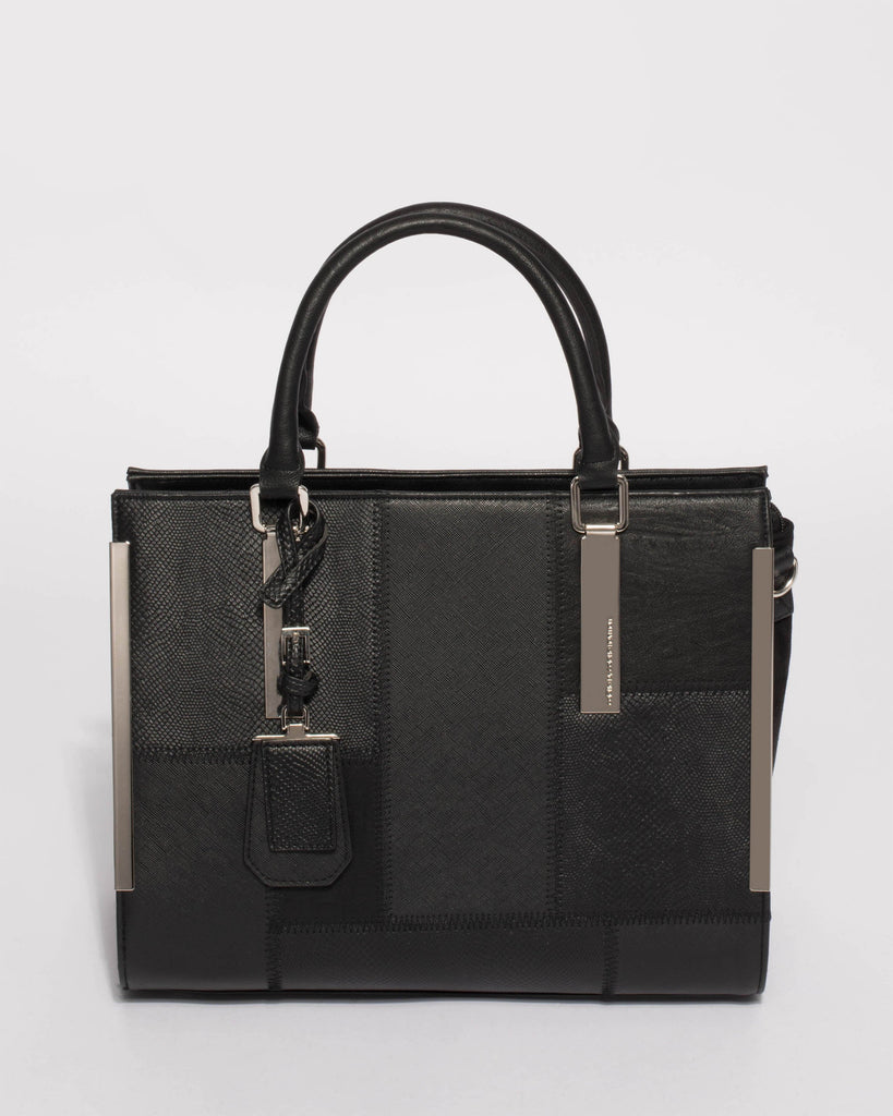 Black Andrea Large Tote Bag