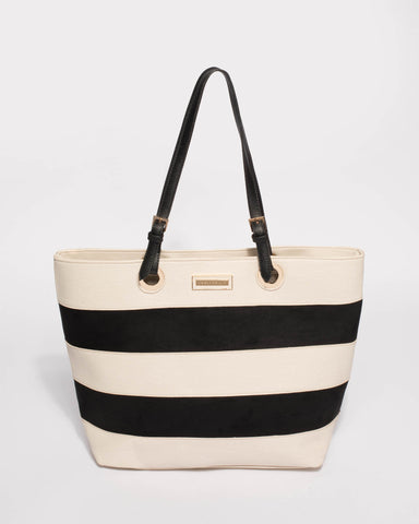 Monochrome Alice Panel Large Bag