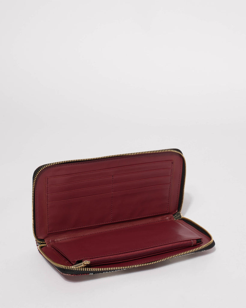 Berry White Lily Large Wallet
