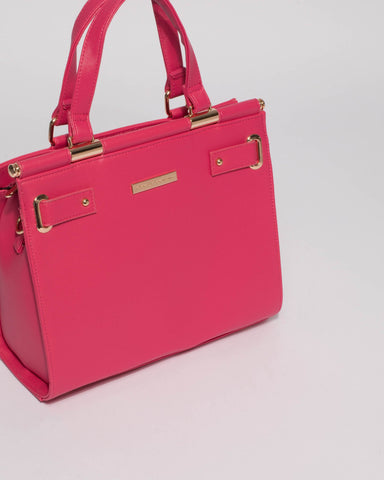 Pink Betty Square Tote Bag