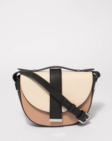Multi Colour Aubrey Saddle Crossbody Bag