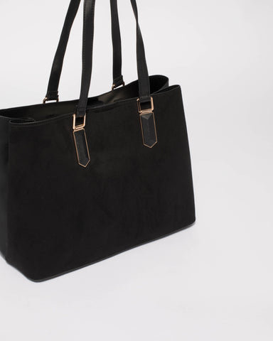 Black Tori Removable Purse Tote Bag