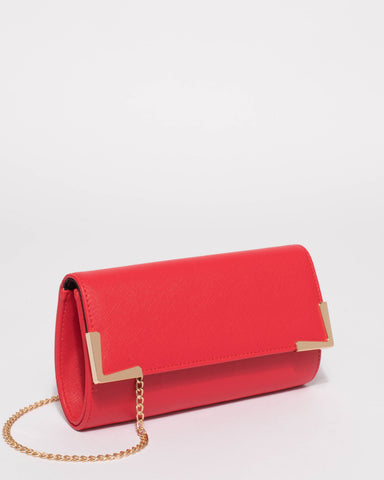 Red Maya Evening Clutch Bag
