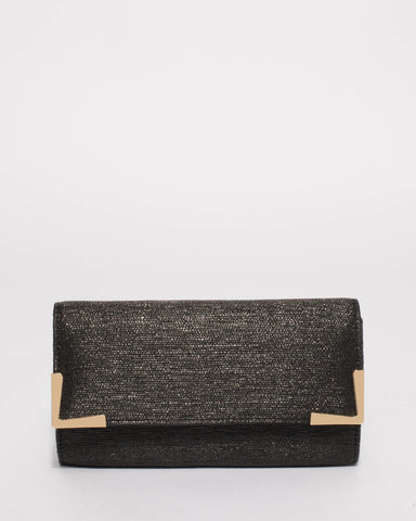 Black Maya Evening Clutch Bag