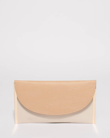 Natural Lauren Flat Clutch Bag