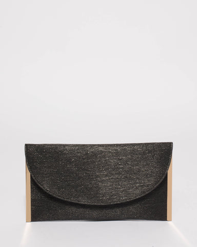 Black Lauren Flat Clutch Bag