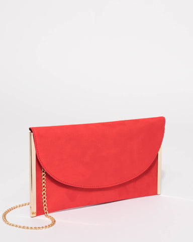 Red Lauren Flat Clutch Bag