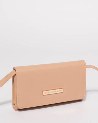 Beige Maria Crossbody Bag Wallet