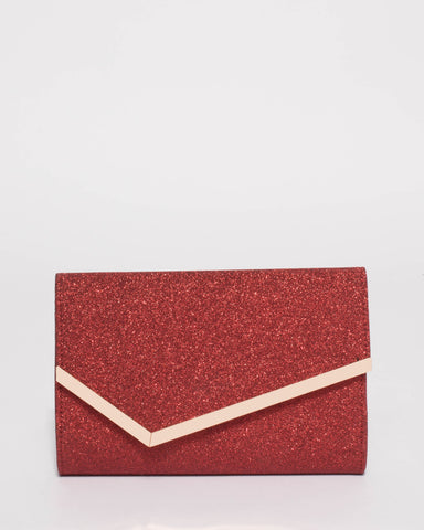 Red Sienna Clutch Bag