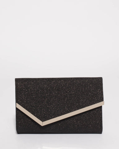 Black Sienna Clutch Bag