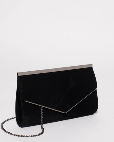 Black Maddison Bar Clutch Bag
