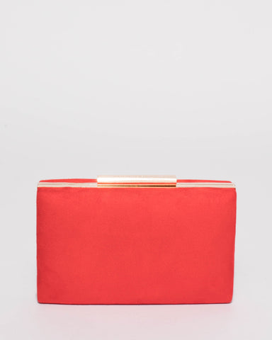 Red Jaimi Clutch Bag