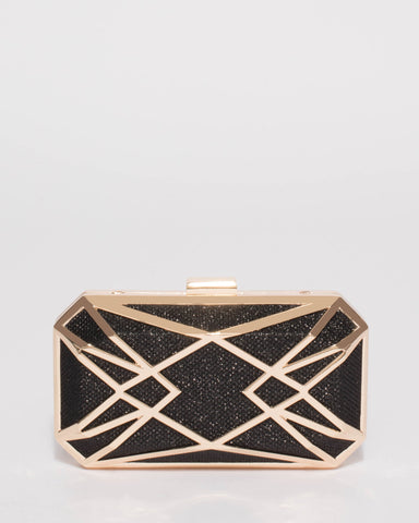Black Jade Geometric Clutch Bag