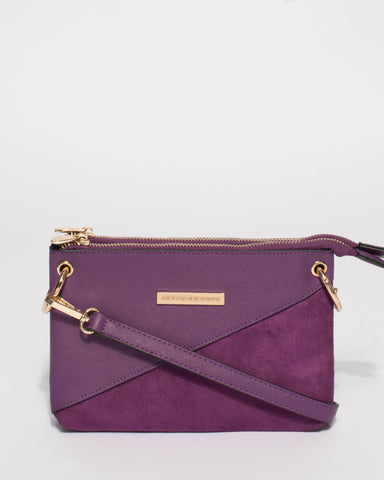 Purple Harley Double Pocket Crossbody Bag