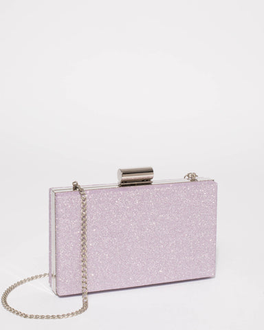 Purple Sally Hardcase Clutch Bag