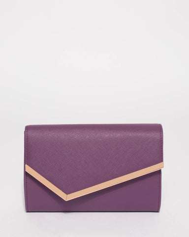 Purple Sienna Clutch Bag