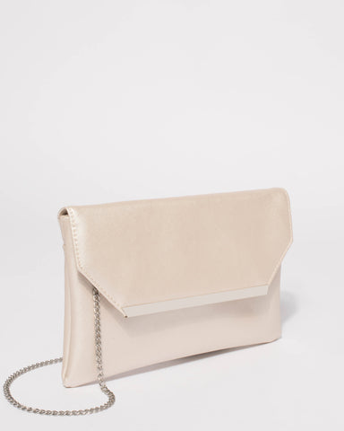 Ivory Ginger Fold Over Clutch Bag
