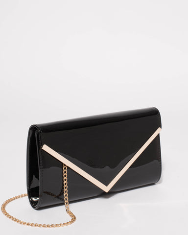 Black Lucy Evening Clutch Bag