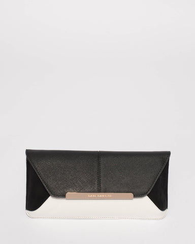 Monochrome Eden Evening Clutch Bag