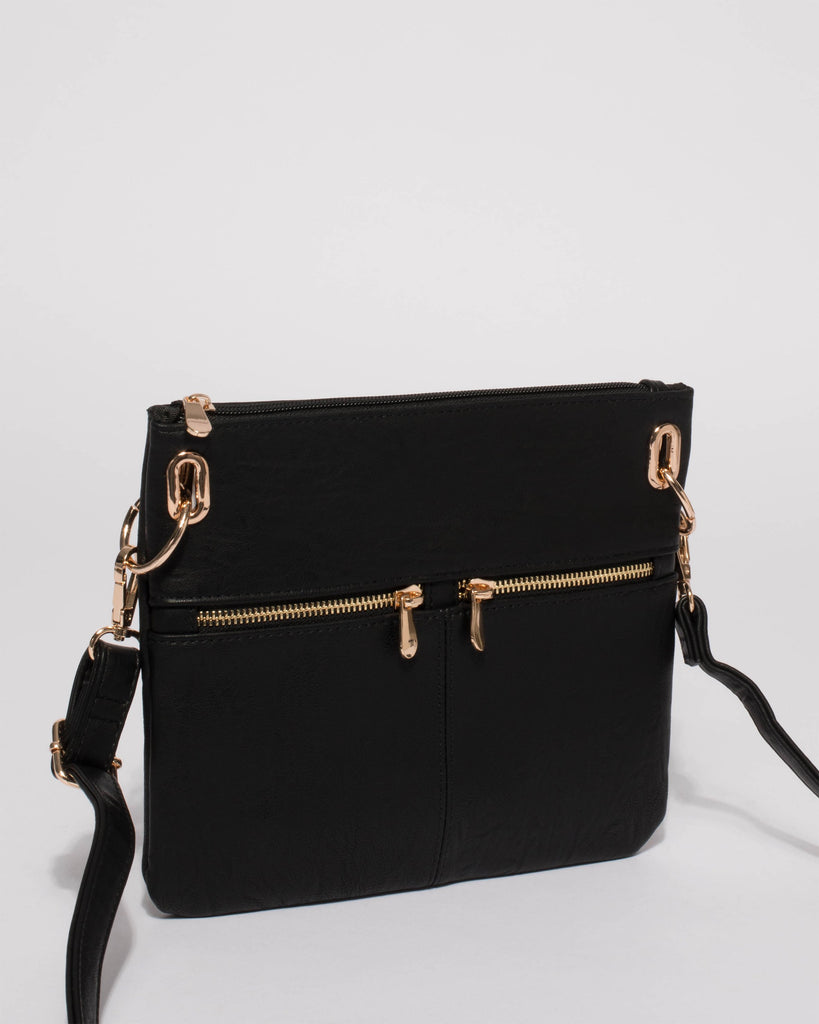 Black Keya Small Bag With Gold Hardware