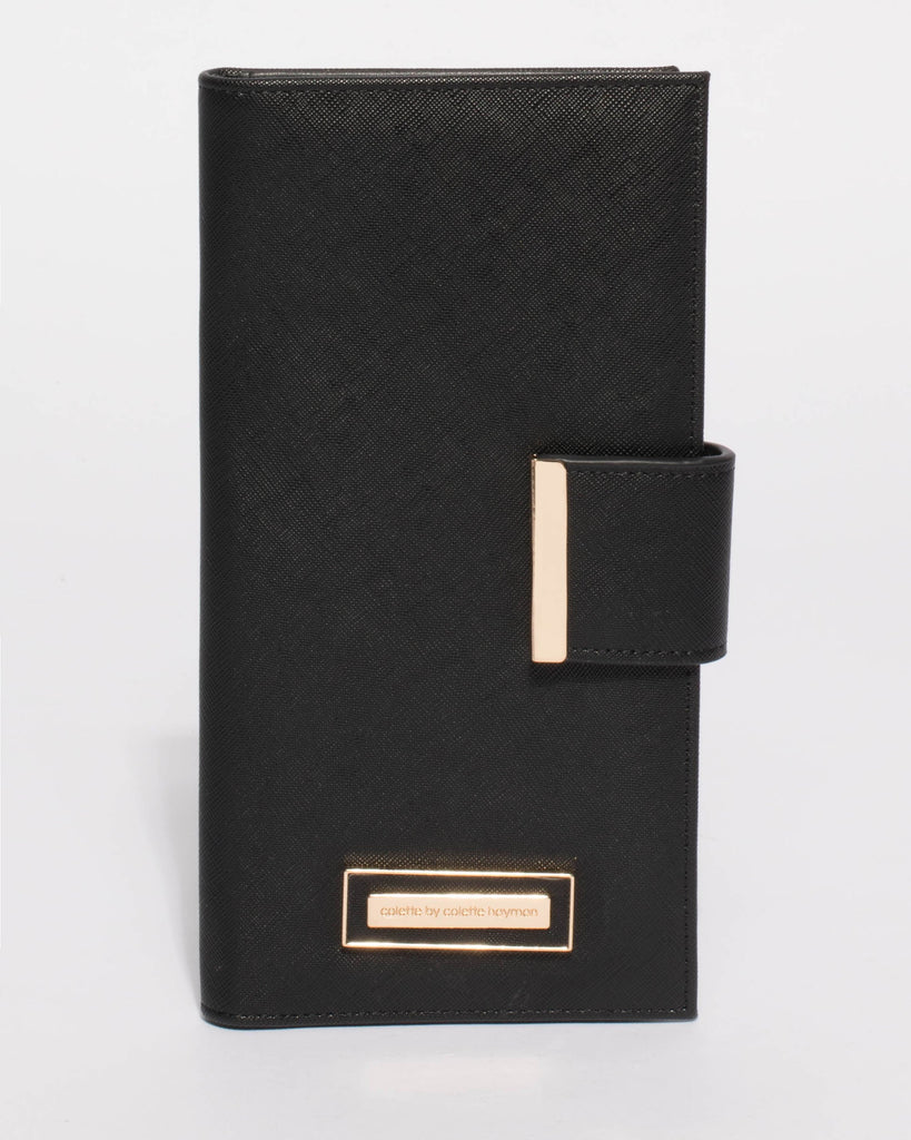 Black Nelly Travel Wallet