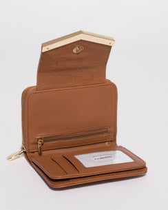 Tan Blake Arrow Mini Wallet