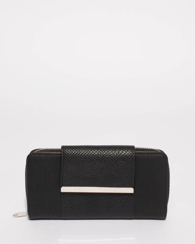 Black Blake Wallet With Silver Hardware
