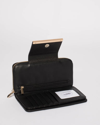 Black Blake Wallet With Gold Hardware