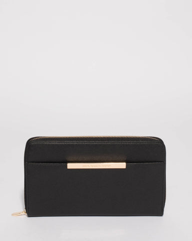 Black Sandy Large Wallet