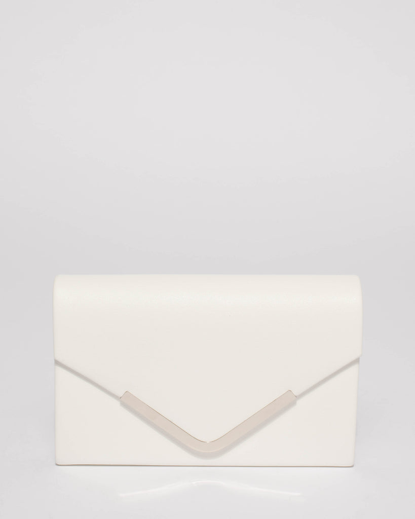 db03f599dc White Lila Envelope Clutch Bag – Colette by Colette Hayman UK