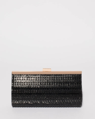 Black Liza Sparkle Clutch Bag