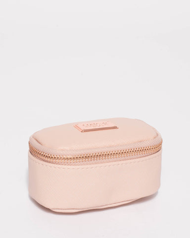 Pink Jewel Purse With Rose Gold Hardware