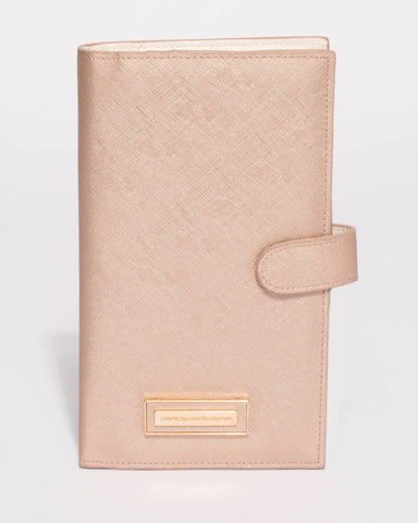 Rose Gold Toni Travel Wallet