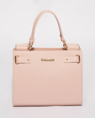 Pink Stephanie Square Tote Bag