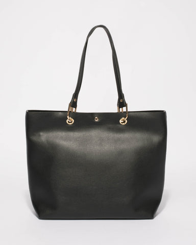 Black Annabel Large Tote Bag