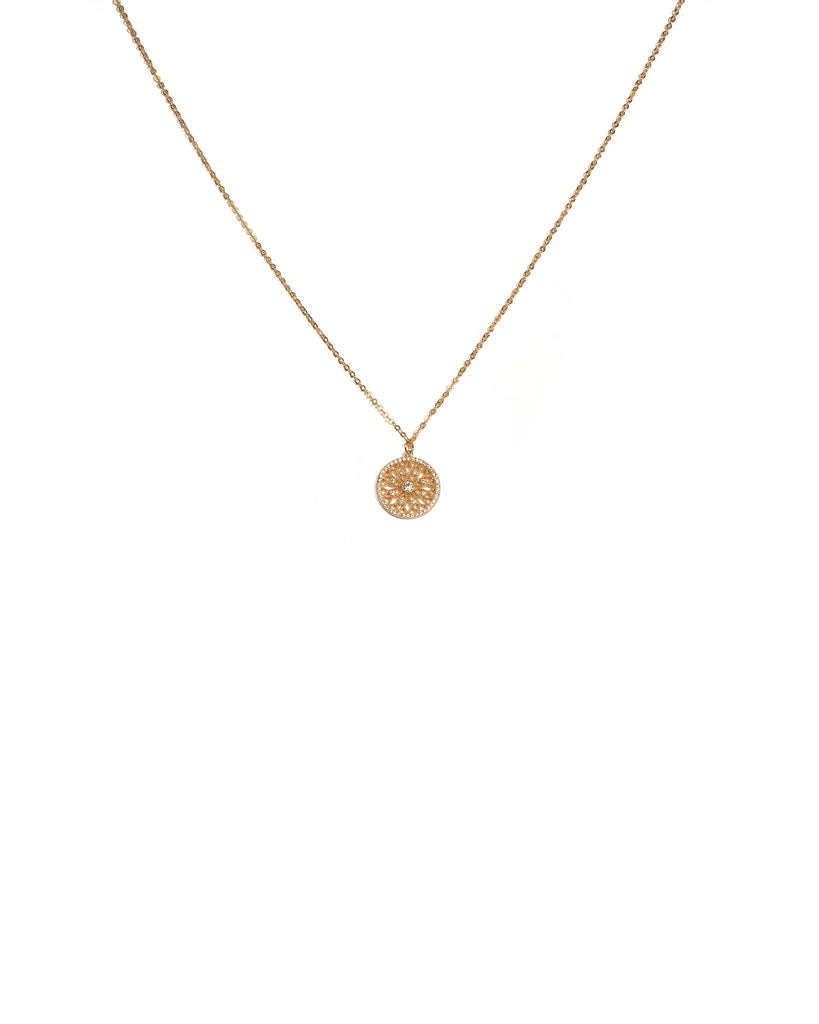 Cubic Zirconia Gold Plated Fine Pendant Necklace