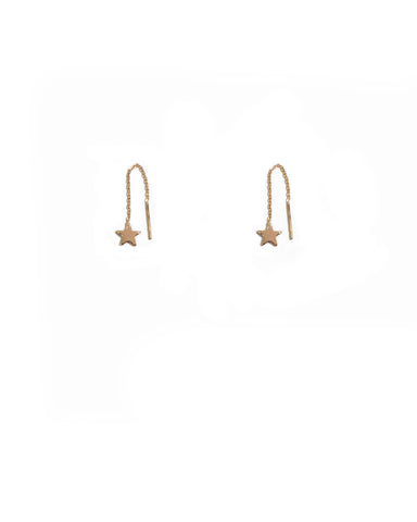 Gold Plated Mini Star Earrings