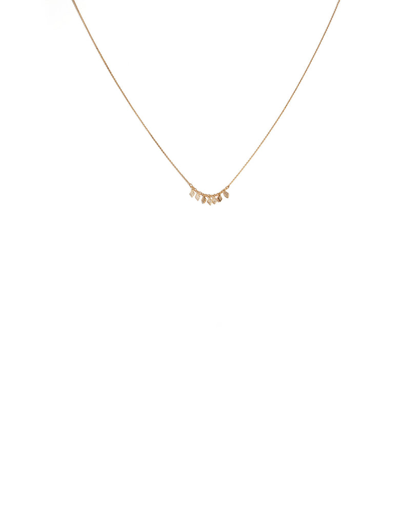 Cubic Zirconia Gold Plated Diamond Fine Chain Necklace