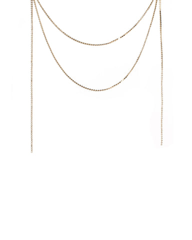 Crystal Gold Tone Crystal Drape Necklace