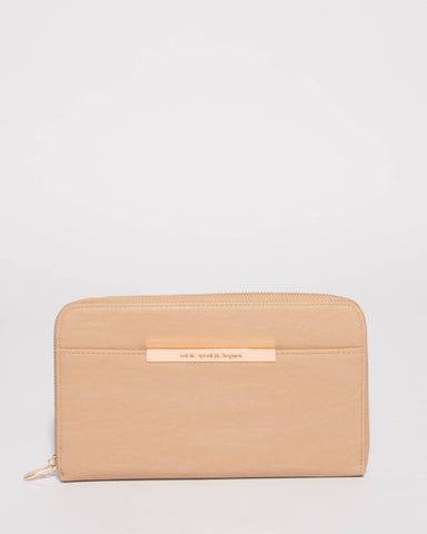Natural Sandy Large Wallet