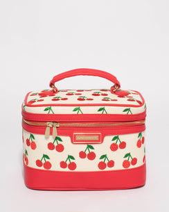 Red And Natural Cherry Cosmetic Case