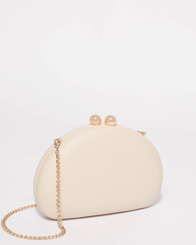 Ivory Jade Hardcase Clutch Bag