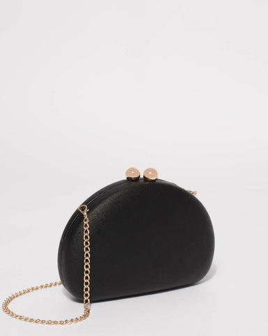 Black Jade Hardcase Clutch Bag