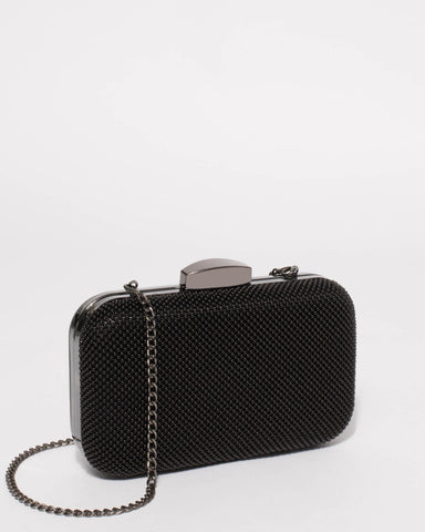 Black Penelope Hardcase Clutch Bag